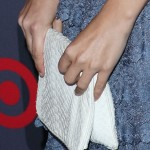 Rachel Bilson Looks Sweet And Pristine With A White Clutch
