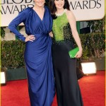 Golden Globes Update: Zooey Deschanel Does Art Deco from Dress to Clutch