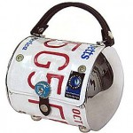 Eco-Fashion: Purses Made Out of License Plates