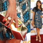Eva Mendes Goes for Gold at the 2010 MTV Movie Awards