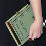 Natalie Portman and Her Olympia Le-Tan Book Clutch