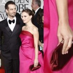 Red Satin Clutches at the Golden Globes