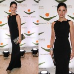 Lucy Liu Dons a Roland Mouret Gown and Roger Vivier Clutch at Int'l Gala